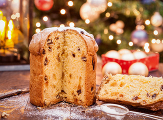 Homemade Panettone Christmas Cake