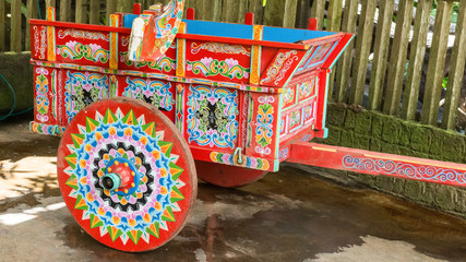 typical hand painted agricultural wagon