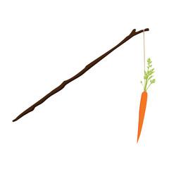 Carrot motivation concept