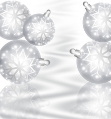 Background with Christmas silver baubles
