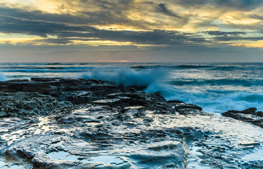 Sunrise Seascape and Splash