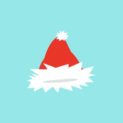 Vector illustration of set of Santa Hats in cartoon design.