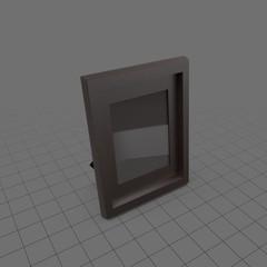 Wood desktop picture frame