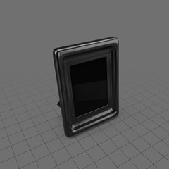 Beveled desktop picture frame