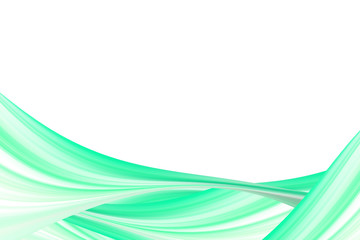 Abstract green Lines Wave white background