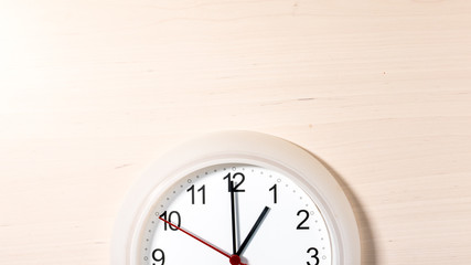 Clock ticking showing one hour