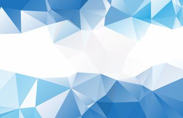 Blue White Crystal Background Design