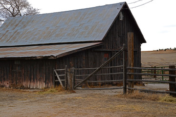 Old Historic Wooden Barn