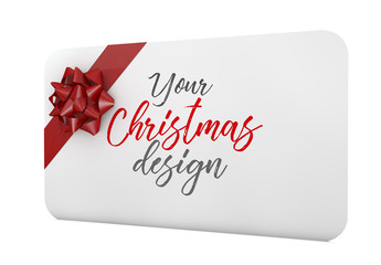 Christmas Gift Card Mockup
