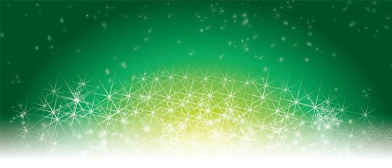 Winter image Background image | GREEN   illumination and snow crystal | Christmas image Christmas image