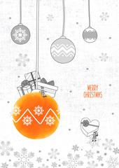 Christmas drawing illustration