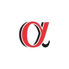 colourfull letter alpha logo vector
