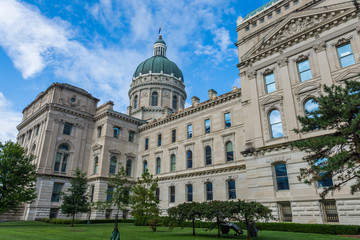 State House Tour Office in Indianapolis Indiana During Summer