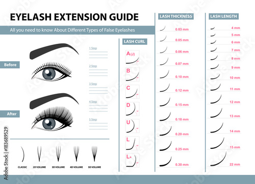 Quot Eyelash Extension Guide Different Types Of False