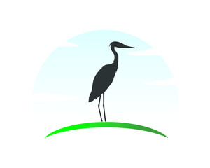 silhoutte stork black