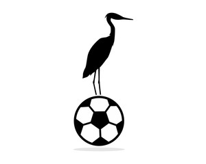 football stork illustration icon vector