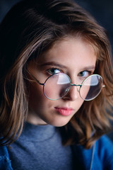 girl in spectacles