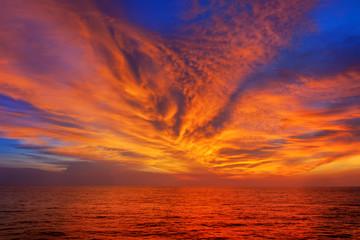 sunset sunrise bright colors beautiful sky