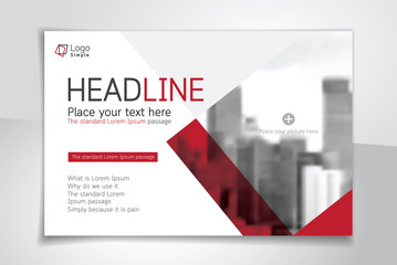 Horizontal vector background template for page covers, flyers, leaflets and advertising billboards
