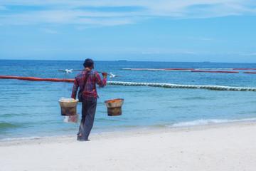 food vendor on the beach