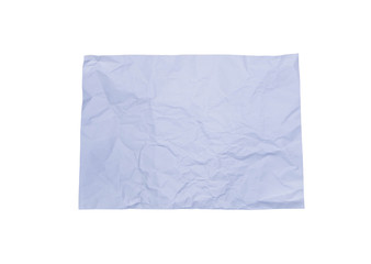 crumpled colour paper on white background