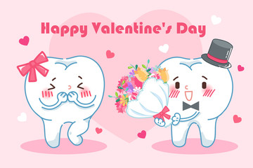 teeth with happy valentine day
