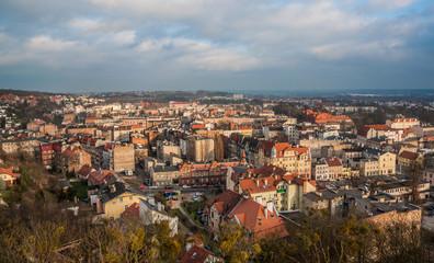 Aerial View. Picturesque cityscape of Grudziadz. Poland