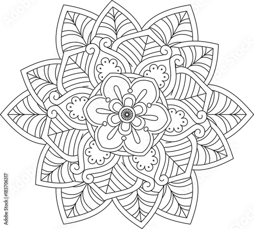 mandala-Flower Mandala. Vintage decorative elements. Oriental ...