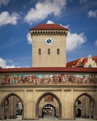 Isartor panorama hochauflösend HD 4k sehenswürdigkeit münchen sehenswürdigkeiten