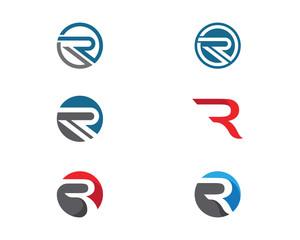 Business corporate R letter logo design vector