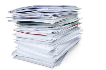 Stack of Envelopes / Files / Documents