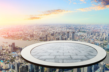 The circular platform suspended above the financial district of lujiazui is in Shanghai Wall mural