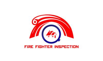 fire fighter inspection logo design