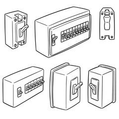 vector set of breaker switch