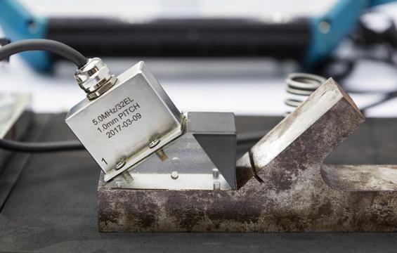 ultrasonic probe testing welding steel