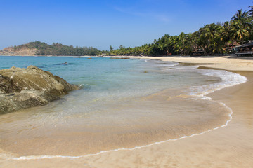 Ngapali Beach - Myanmar (Burma). This beach on Myanmar's west coast is a quiet and relaxing beach side location popular with tourist visiting the region.