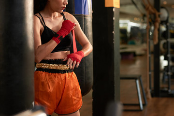 Preparing for boxing training