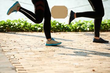 Jogging young women