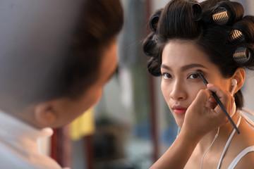 In make-up studio