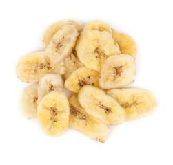 Dryed banana top view
