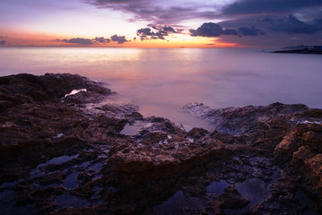 Morning on Fond Ghadir Beach, Sliema, Malta