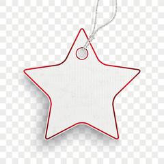 Carton Star Price Sticker Transparent