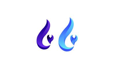 L flame logo