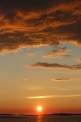 Norwegen, Norway, Sonnenuntergang, Sunset
