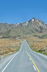 Road to the mountain, South Island, New Zealand