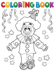 Wall Murals For Kids Coloring book clown thematics 2