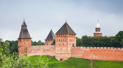 Novgorod Kremlin Detinets. Towers and walls