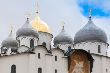 St. Sophia Cathedral in summer day, Novgorod