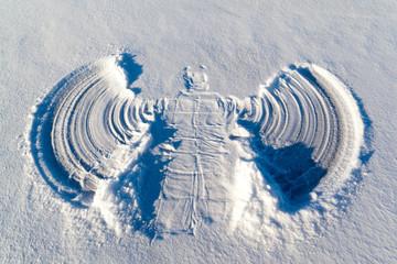 Graceful snow angel
