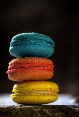 Appetizing colorful macaroons